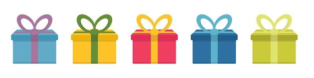Conception simple de symbole d'icône de cadeau