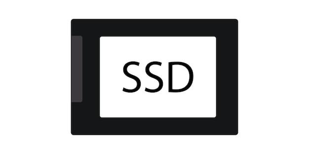 Conception simple de symbole d'icône ssd