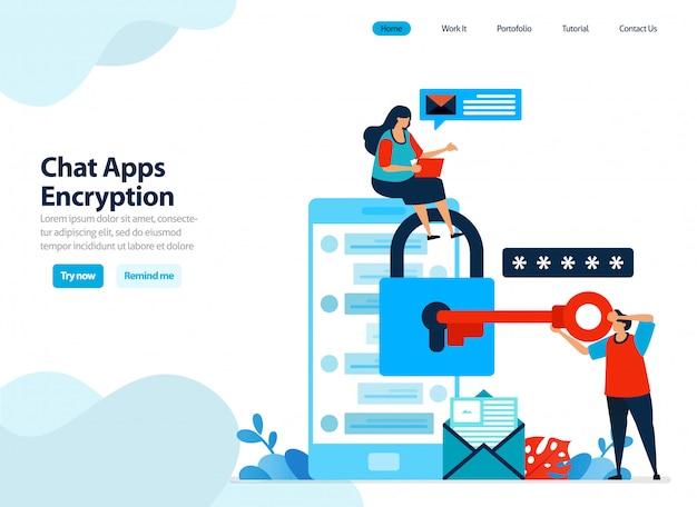 Conception de sites web de cryptage d'applications de chat et de sécurité mobile.