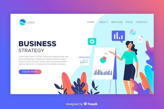 Conception de sites web de pages de destination de stratégie commerciale