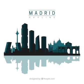 Conception de skyline de madrid