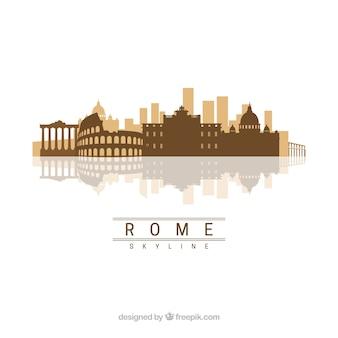 Conception de skyline de rome