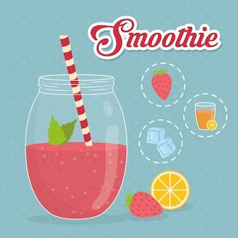 Conception de smoothie. illuistration