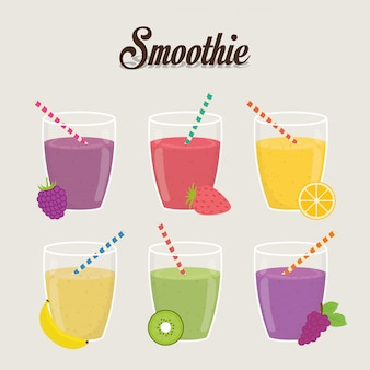 Conception de smoothie. illuistration