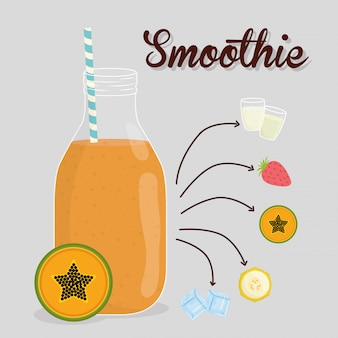 Conception de smoothie.