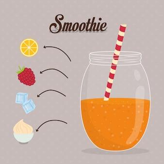 Conception de smoothie.