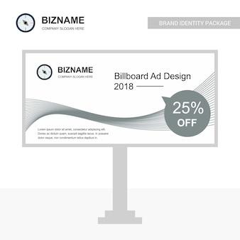 Conception de société bill board avec vecteur de conception créative