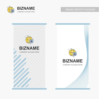 Conception de société bill avec vecteur de logo bug