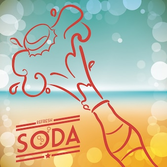 Conception de soda