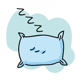Conception de sommeil sur illustration vectorielle fond blanc
