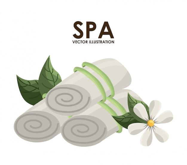Conception de spa au cours de l'illustration vectorielle fond blanc