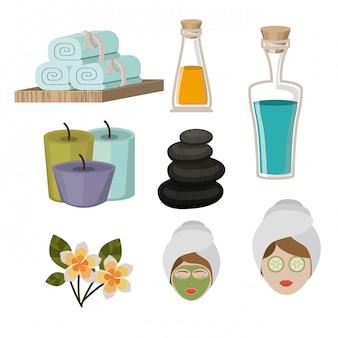 Conception de spa, illustration vectorielle.