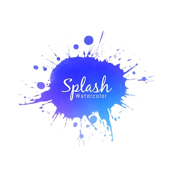 Conception de splash aquarelle bleue