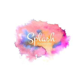 Conception de splash aquarelle colorée abstraite