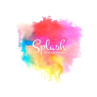 Conception de splash coloré aquarelle abstraite