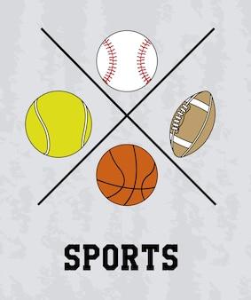 Conception de sport au cours de l'illustration vectorielle fond gris
