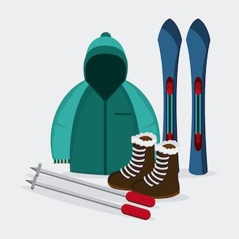 Conception de sport d'hiver, illustration vectorielle
