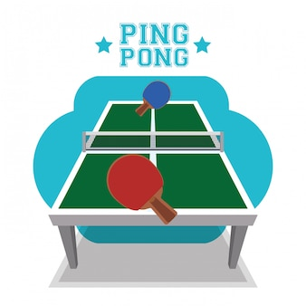 Conception de sport de ping-pong