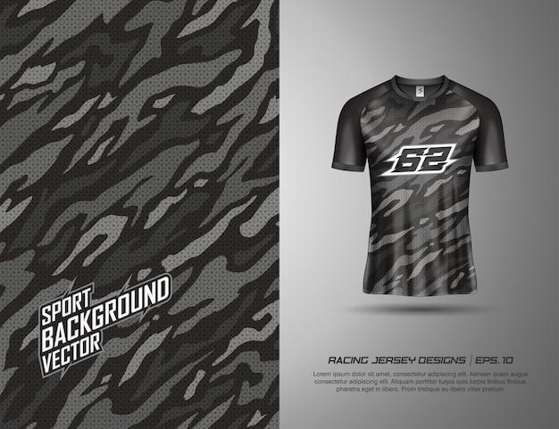 Conception sportive de t-shirt pour la course, le maillot, le cyclisme, le football, les jeux