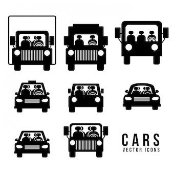 Conception de stationnement sur illustration blanche