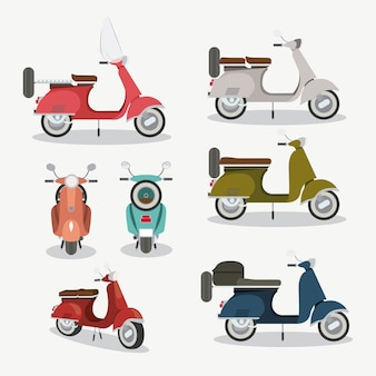 Conception de style scooter