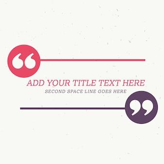 Conception de style testimonial avec un espace pour votre message