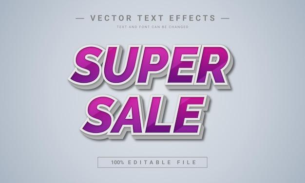Conception de style de texte modifiable en 3d super vente