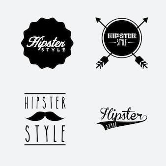 Conception de style de vie hipster