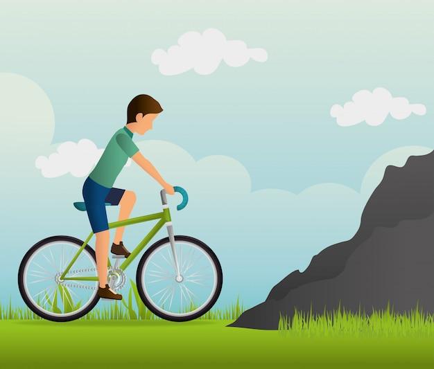 Conception de style de vie de vélo