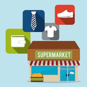 Conception de supermarché