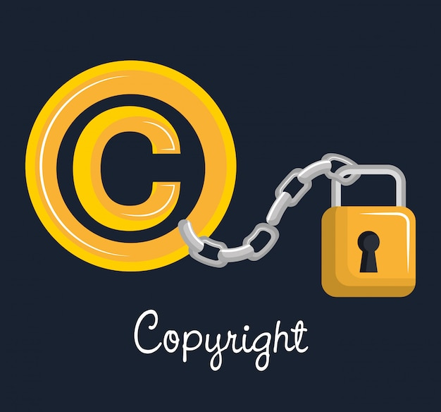 Conception De Symbole De Copyright | Vecteur Premium