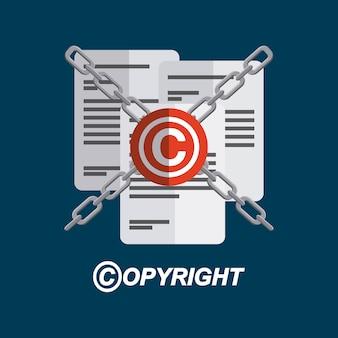 Conception de symbole de copyright