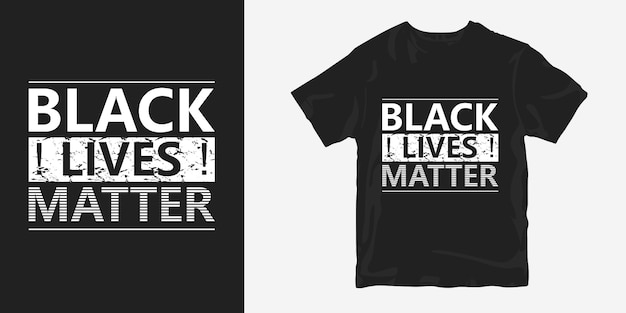 Conception de t-shirt affiche black lives matters sur george floyd