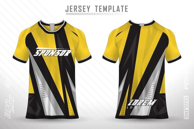 Conception de t-shirt avant arrière conception sportive pour vecteur de maillot de jeu de cyclisme de course de football