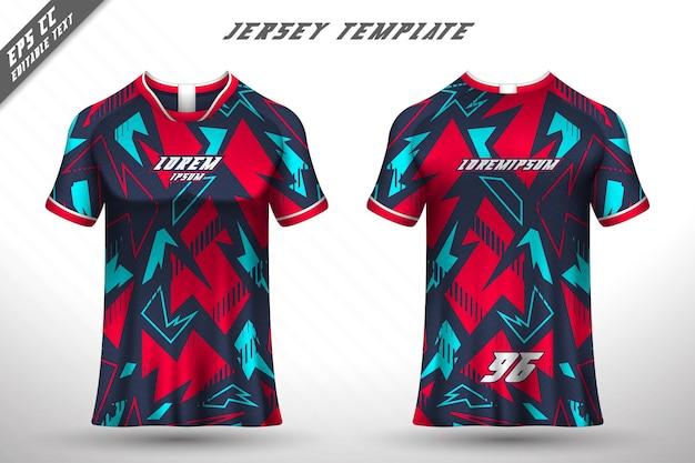 Conception De T-shirt Avant Arrière Conception Sportive Pour Vecteur De Maillot De Jeu De Cyclisme De Course Vecteur Premium