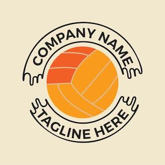 Conception de t-shirt avec ballon de volley-ball