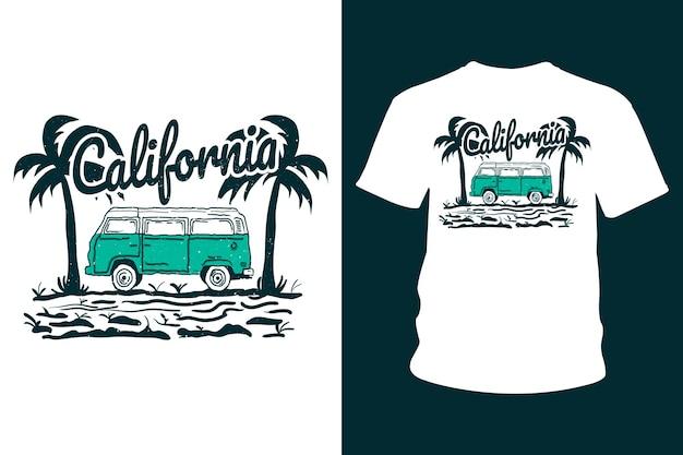 Conception de t-shirt californie