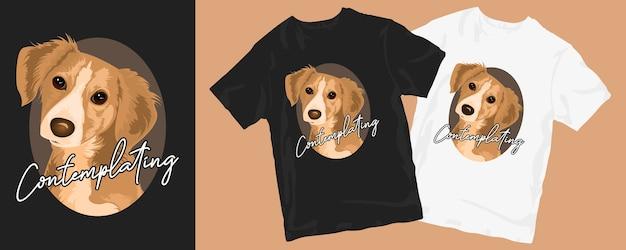 Conception de t-shirt de chien mignon