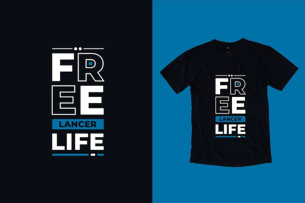 Conception de t-shirt citations modernes de la vie indépendante