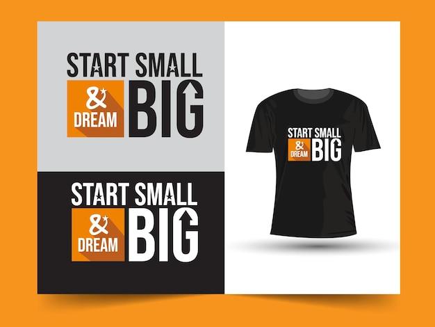 Conception de t-shirt de citations de motivation
