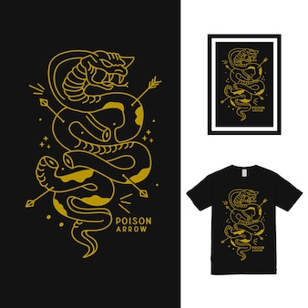 Conception de t-shirt cobra poison