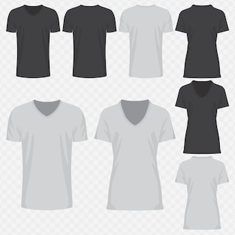 Conception de t-shirt col v