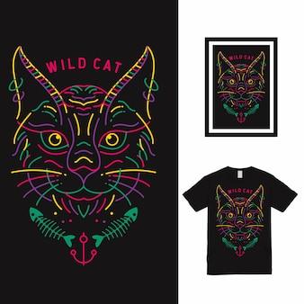 Conception de t-shirt dream castle high line art