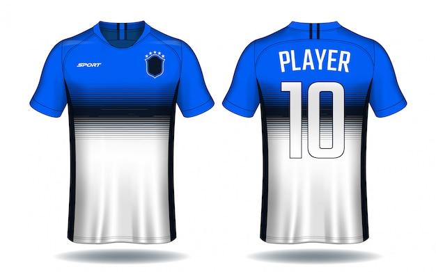 Conception de t-shirt de football.