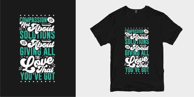 Conception de t-shirt de gentillesse inspirante cite lettrage de typographie de slogan