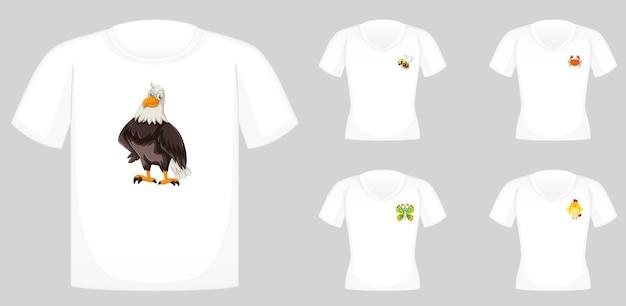 Conception de t-shirt avec des graphiques d'animaux
