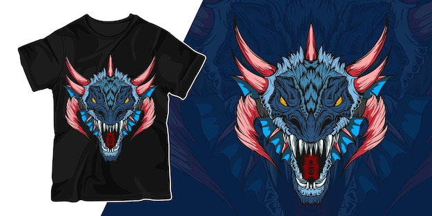 Conception de t-shirt illustration illustration dragon