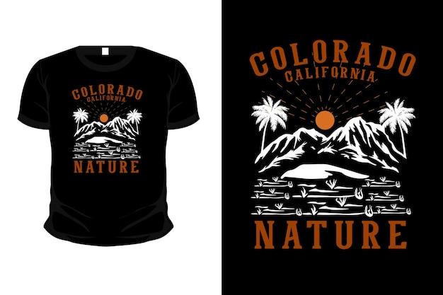 Conception de t-shirt illustration nature colorado californie dessinés à la main