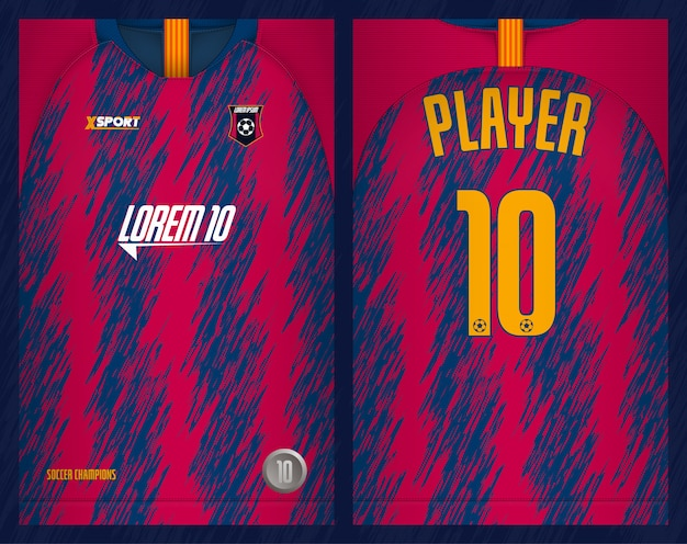 Conception de t-shirt jersey de football modèle-sport