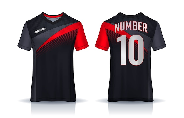 Conception de t-shirt en jersey de football